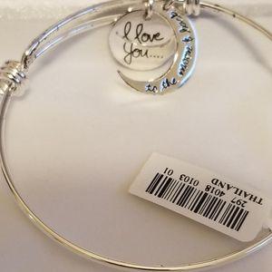 """Love You... Moon and Back"" Charm Bracelet"